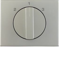 10887104 Centre plate with rotary knob for 3-step switch Berker K.5, stainless steel,  metal matt finish