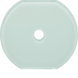 109509 Glass cover centre plate for rotary switch/spring-return push-button Serie Glas