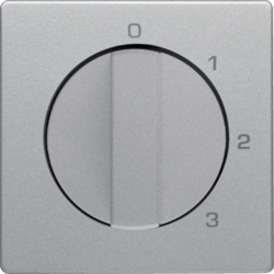 10966084 Centre plate with rotary knob for 3-step switch with neutral-position,  Berker Q.1/Q.3/Q.7/Q.9
