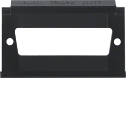 111101 Mounting plate for D-Subminiature connectors 25pole with labelling field,  Aquatec IP44, black