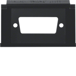 111102 Mounting plate for D-Subminiature connectors 15pole with labelling field,  Aquatec IP44, black