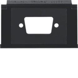 111103 Mounting plate for D-Subminiature connectors 9pole with labelling field,  Aquatec IP44, black