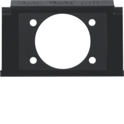 111105 Mounting plate for XLR built-in jack P-series with labelling field,  Aquatec IP44, black