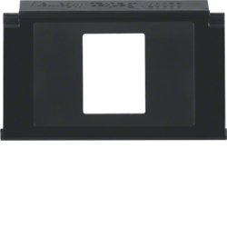 111116 Mounting plate 1gang for modular jack with labelling field,  Aquatec IP44, black