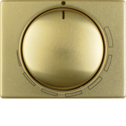 11340022 Centre plate for speed controller with setting knob,  Berker Arsys,  gold matt,  aluminium anodised
