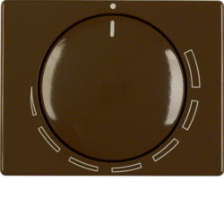 11350021 Centre plate for speed controller with setting knob,  Berker Arsys,  brown glossy