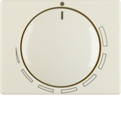 11350022 Centre plate for speed controller with setting knob,  Berker Arsys,  white glossy
