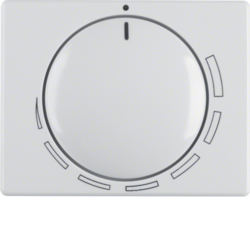 11350089 Centre plate for speed controller with setting knob,  Berker Arsys,  polar white glossy