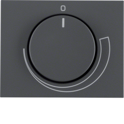 11357206 Centre plate for speed controller with setting knob,  Berker K.1, anthracite matt,  lacquered
