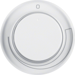 11372079 Centre plate for speed controller with setting knob,  polar white glossy