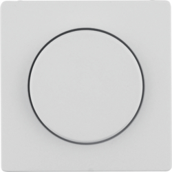 11376082 Centre plate for rotary dimmer/rotary potentiometer with setting knob,  white velvety