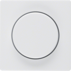 11376089 Centre plate for rotary dimmer/rotary potentiometer with setting knob,  polar white velvety
