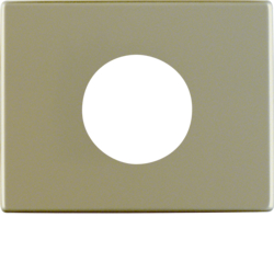 11650101 Centre plate for push-button/pilot lamp E10 Berker Arsys,  light bronze matt,  aluminium lacquered