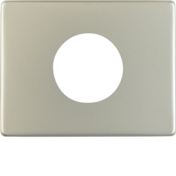 11650104 Centre plate for push-button/pilot lamp E10 Berker Arsys,  stainless steel,  metal matt finish
