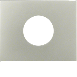 11657004 Centre plate for push-button/pilot lamp E10 Berker K.5, stainless steel matt,  lacquered