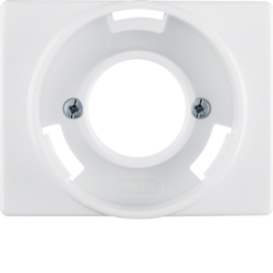 11670069 Centre plate for pilot lamp E14 Berker Arsys,  polar white glossy