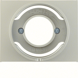 11677004 Centre plate for pilot lamp E14 Berker K.5, stainless steel matt,  lacquered