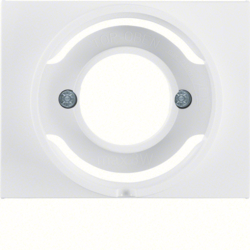 11677009 Centre plate for pilot lamp E14 Berker K.1, polar white glossy