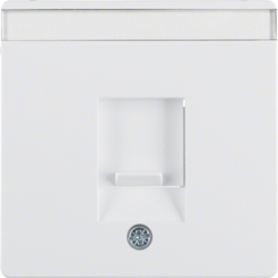 11706089 Centre plate with dust protection slider Labelling field,  polar white velvety