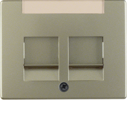 11829011 Centre plate with 2 dust protection sliders Labelling field,  Berker Arsys,  light bronze matt,  lacquered