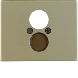11840001 Centre plate for loudspeaker socket outlet Berker Arsys,  light bronze matt,  aluminium lacquered
