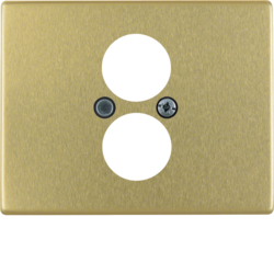 11840002 Centre plate for loudspeaker socket outlet Berker Arsys,  gold matt,  aluminium anodised