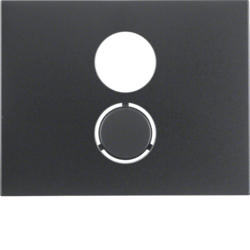 11847006 Centre plate for loudspeaker socket outlet Berker K.1, anthracite matt,  lacquered
