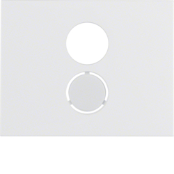 11847009 Centre plate for loudspeaker socket outlet Berker K.1, polar white glossy