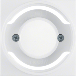 11988989 Centre plate for pilot lamp E14 polar white glossy