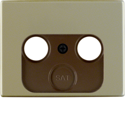 12020021 Centre plate for aerial socket 2-/3hole Berker Arsys,  light bronze matt,  aluminium lacquered