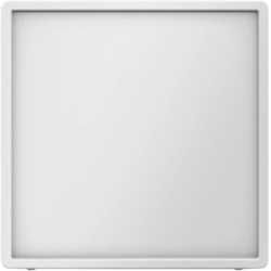 12046089 Centre plate for nurse call system polar white velvety