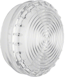 1220 Cover,  flat,  for pilot lamp E14 clear,  transparent