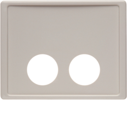 12380002 Centre plate with 2 plug-in openings for call unit Berker Arsys,  white glossy