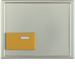 12529004 Centre plate with yellow button Berker Arsys,  stainless steel matt,  lacquered