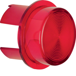 1281 Cover for push-button/pilot lamp E10 red,  transparent