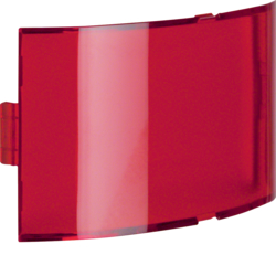 1289 Cover plate for info pilot lamp red,  transparent