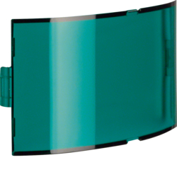 128903 Cover plate for info pilot lamp green,  transparent