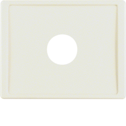 12980002 Centre plate with plug-in opening for nurse call systems Berker Arsys,  white glossy