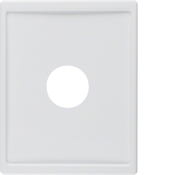 12980069 Centre plate with plug-in opening for nurse call systems Berker Arsys,  polar white glossy