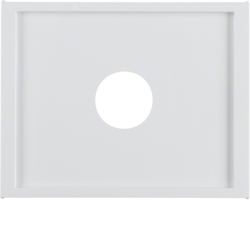 12987009 Centre plate with plug-in opening for nurse call systems Berker K.1, polar white glossy
