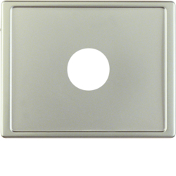12989004 Centre plate with plug-in opening for nurse call systems Berker Arsys,  stainless steel matt,  lacquered