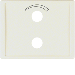 13000002 Centre plate with imprinted symbol curve for small sound system Berker Arsys,  white glossy
