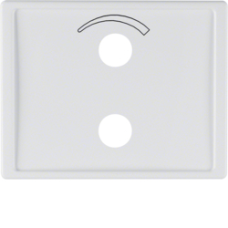13000069 Centre plate with imprinted symbol curve for small sound system Berker Arsys,  polar white glossy
