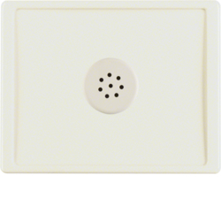 13020002 Centre plate with microphone for interface unit Berker Arsys,  white glossy