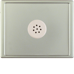 13029004 Centre plate with microphone for interface unit Berker Arsys,  stainless steel matt,  lacquered