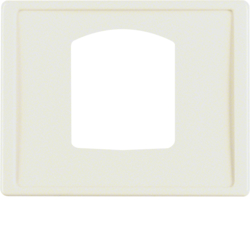 13050002 Centre plate for dropping plug-and-socket connector Berker Arsys,  white glossy