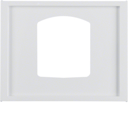 13057009 Centre plate for dropping plug-and-socket connector Berker K.1, polar white glossy