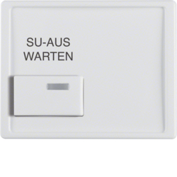 13080069 Centre plate with white button and imprint Berker Arsys,  polar white glossy