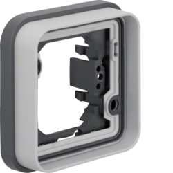 13283505 Frame 1gang for flush-mounted installation with sealing,  Berker W.1, light grey matt