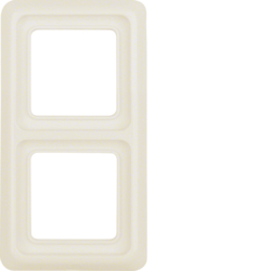 1329 Frame 2gang with sealing,  Splash-protected flush-mounted IP44, white glossy
